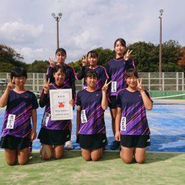 令島根県高等学校テニス新人大会団体の部 準Vにより中国大会出場決定!